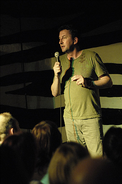 Lee Mack at Outside The Box - photo by James Perou